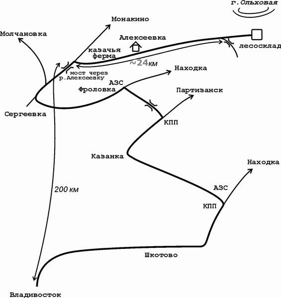 Схема маршрутов восхождения на